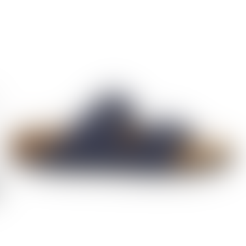 Birkenstock Arizona Saddle Matt Navy Vegan Sandals