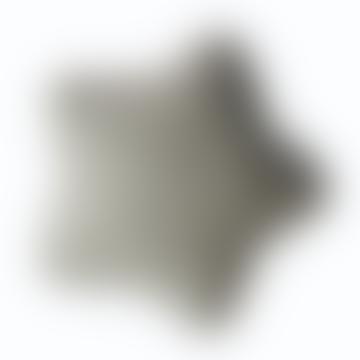 Grey Velvet Star Cushion