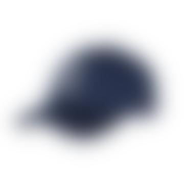 Baseball Cap Suede II - Dark Navy/White