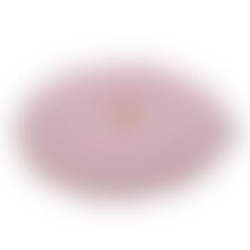 Round Velvet Cushion Pink Mustard