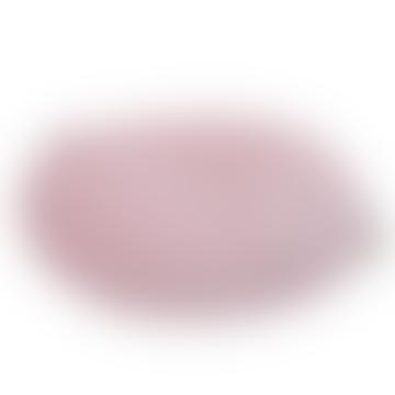 Round Velvet Cushion Pink White