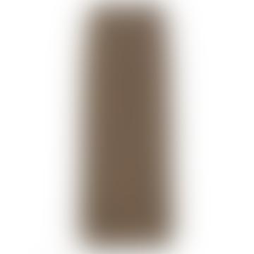 Brown Plisse Jersey Skirt