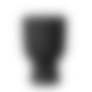 Wikholm Form Akhila Rounded Black Metal Plant Pot