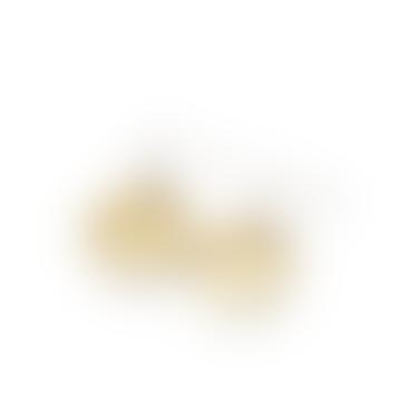 Janoni Hammered Brass Medallion Earrings