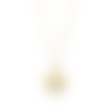 Yala Jewellery Recycled Brass Janoni Hammered Brass Medallion Pendant