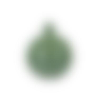 Bubblan Mini Green Glass Vase