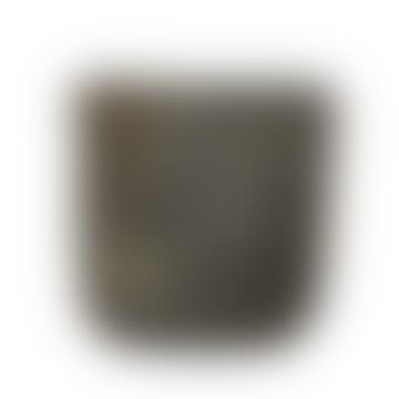 Gerd Xl Textured Concrete Black Plant Pot