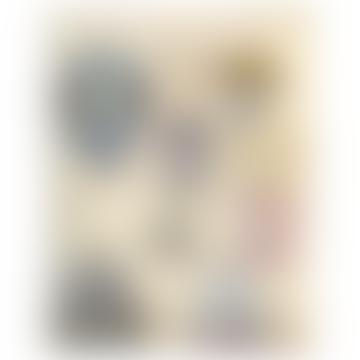 JOHN DERIAN Handmade Decoupage 8 x 10.5 Inch Rectangular Glass Tray - Balloons of Sorts