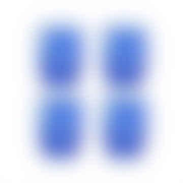&klevering Blue Tortoiseshell Glass- Set of 4