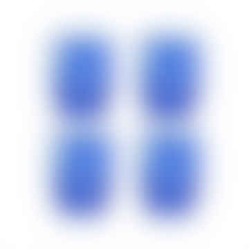 Blue Tortoiseshell Glass- Set of 4