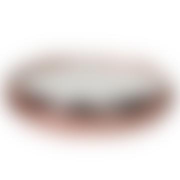 Medium 10 Wick Scented Candle in Hammered Rose Gold Dish | Orange Bergamot