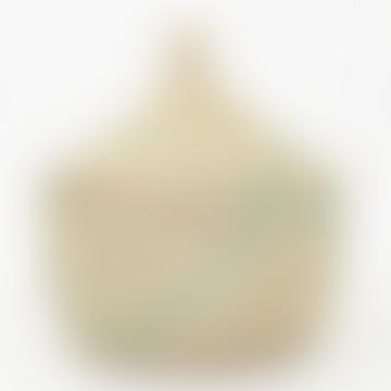 Afroart White Turquoise Sene Storage Basket, size XXL