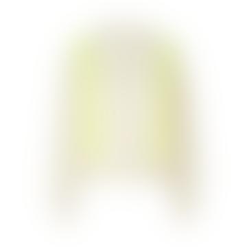 Mads Norgaard Recy Soft Knit Kalpa - Ecru/Neon Yellow