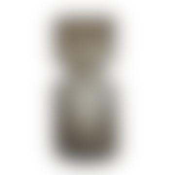 Wikholm Form Riffle Ribbed Smoke Glass Vase