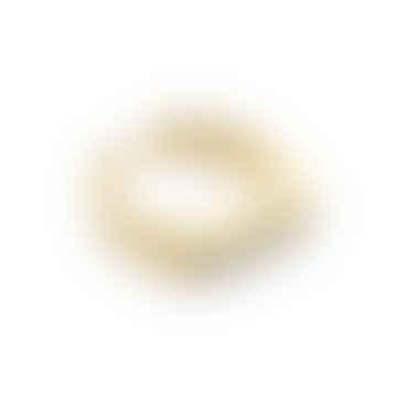 Nordic Muse 18k Gold Vermeil Signet Ring, Adjustable Size RG - 0028 G