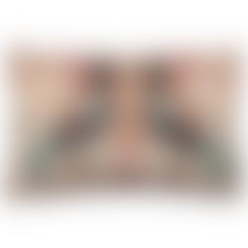 Grigia Twin Crowned Pigeon Printed Velvet Cushion