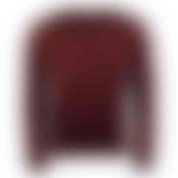 Mullen Crew-Neck Knit Sweater Burgundy
