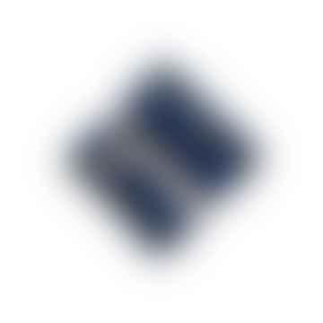 Set of 6 Blue Linen Checks Coasters