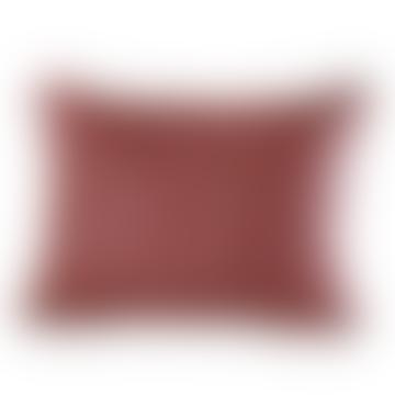 Le Monde Sauvage Red and Black Silk Aruki Reversible Cushion