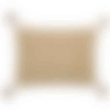 Le Monde Sauvage Beige and Cream Star Cushion