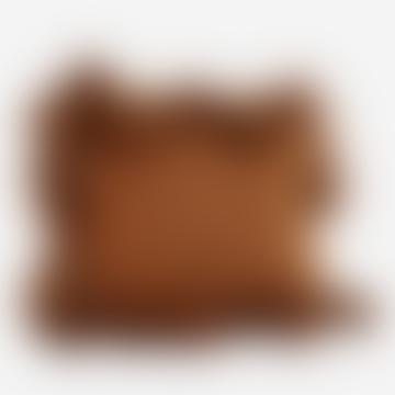 Madam Stoltz Cotton Cushion With Tassels Sugared Almond