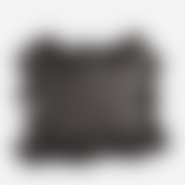 Cotton Cushion With Tassels Dark Grey