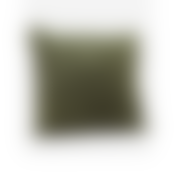Velvet Cushion Cover With Fringes Light Jade