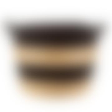 Black Rope Grass Stripe Basket