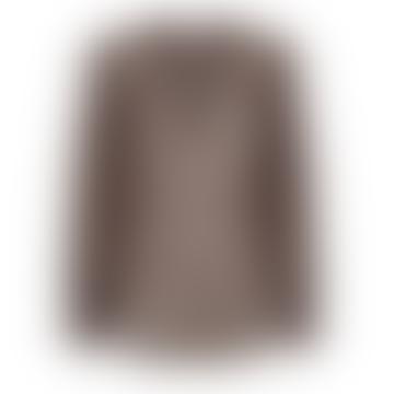 Black & Brown Chiffon Tanja Blouse