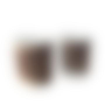 Ceramic Cup - Brown Brush Stroke