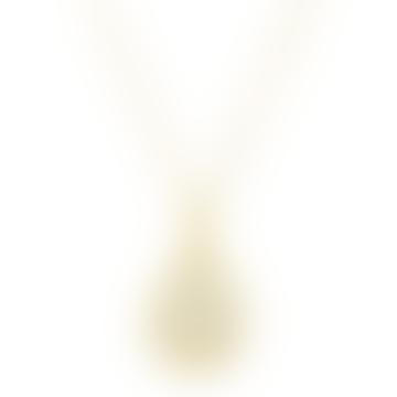Gold Moonstone Charm Pendant