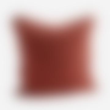 Checked Linen Cushion 50x50 cm