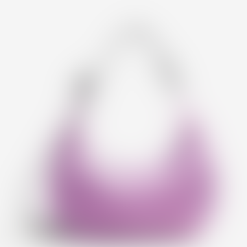 Peony Medium Nylon Crescent Bag
