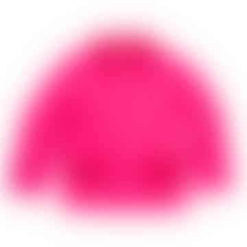 Fushia Pink Cotton Sherpa Jacket