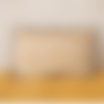 40 x 60cm Mustard Linen Bhuj Printed Cushion Cover