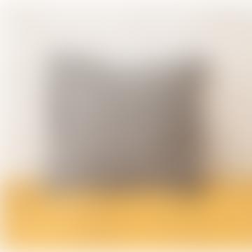 45 x 45cm Black Linen Varanasi Printed Cushion Cover