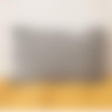 40 x 60cm Black Linen Varanasi Printed Cushion Cover