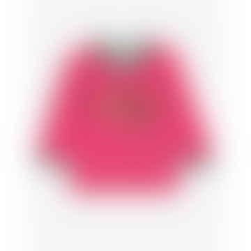 Pink Organic Robin Applique LS T Shirt