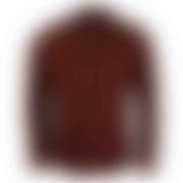 Fontella Long-Sleeved Cord Shirt (Burgundy)
