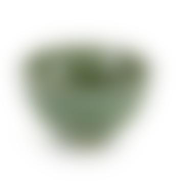Bol pur en céramique vert de mer moyen