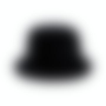 Black Faux Fur Fishermans Hat