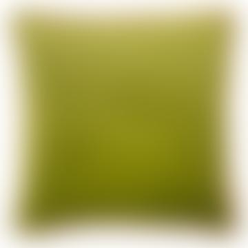 Plain Lime Feather Filled Luxury Velvet Cushion