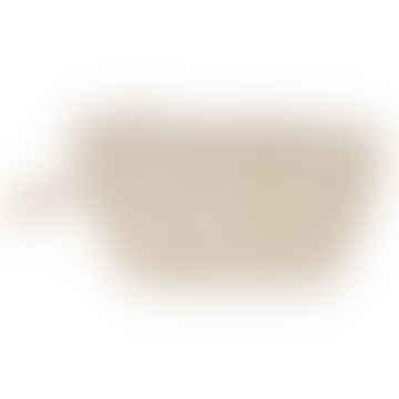 Palmier Cotton Mini Pouch Taupe