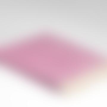 Spotted Pink Herringbone Merino Wool Super Soft Throw