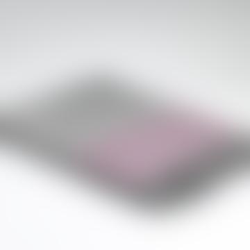 Light Grey & Raspberry Pink Stripe Soft Warm Throw - 100% Merino Lambswool