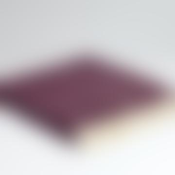 Burgandy Deep Purple Herringbone Merino Wool Soft Throw