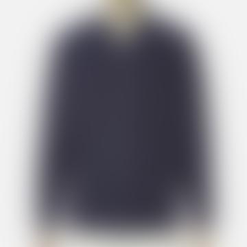 Navy Universal Works V Neck Overshirt