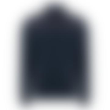 Navy Panel Zip Casual Jacket