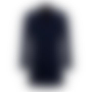Rueben Dark Blue Overcoat