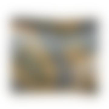 Velvet Grey Leopard Cushion